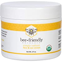 BeeFriendly Face and Eye Cream All Natural USDA Certified Organic Moisturizer, All...