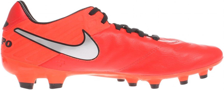Nike Herren Tiempo Mystic V FG Fußballschuhe Weiß Schwarz Orange Lt Crmsn Mtllc Slvr Ttl Crmsn