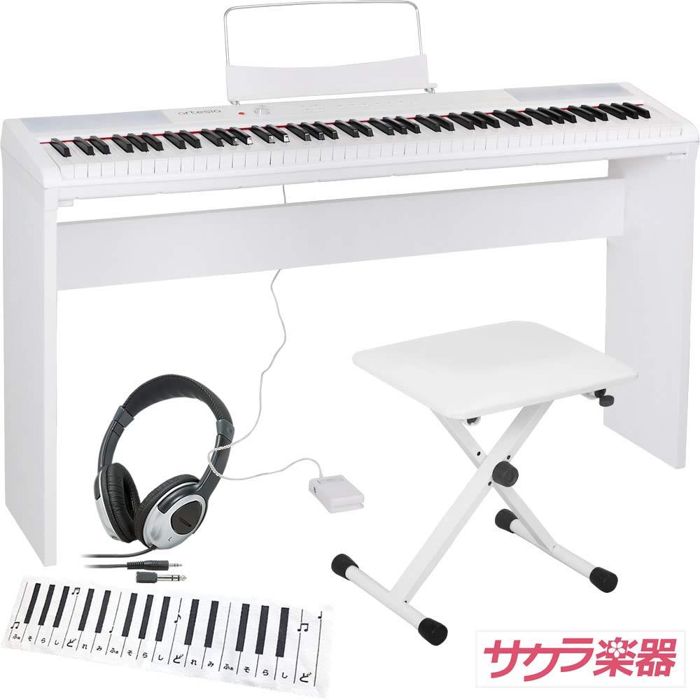 当季大流行 Artesia アルテシア デジタルピアノ(電子ピアノ) ホワイト 88鍵 Performer/WH Artesia ホワイト サクラ楽器オリジナルセット[純正木製スタンドイスヘッドフォンクリーニングクロス]Performer 88鍵/WH 純正スタンドセットB07MR3LGYF, グッドアンティークス:5e3c00a7 --- a0267596.xsph.ru