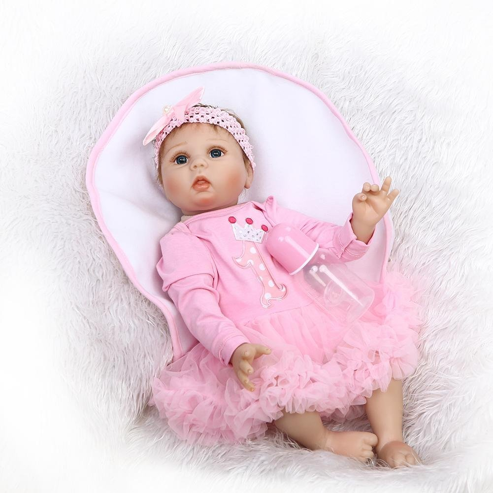 chinatera Kids Toy NPK Lovely Realistic Simulation Reborn Doll Soft Silicone Lifelike Artificial Kids Cloth Dolls by chinatera (Image #3)