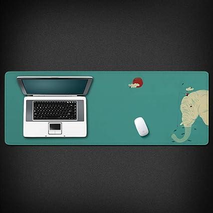 WENSHUO Juego Alfombrilla De Ratón Tapete De Mesa De Gran Tamaño Grueso Elefante Antideslizante De Dibujos Animados para Pc Y Laptop, 800X300X3Mm: Amazon.es: Electrónica