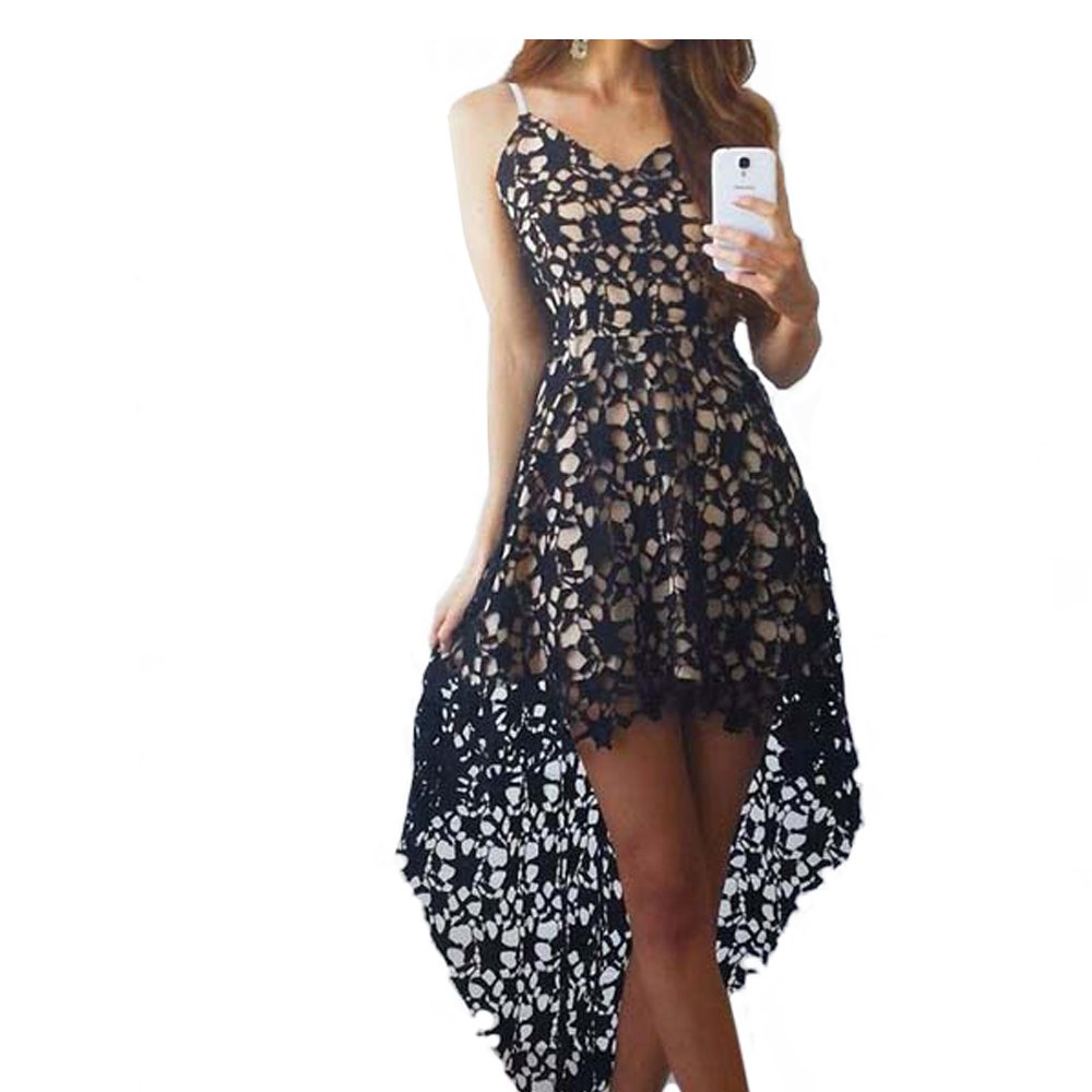 Celino Womens New Fashion Casual Lace Self Colored Bonded Sleeves Dress