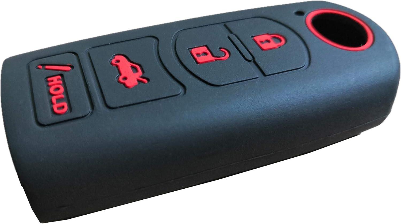 KAWIHEN Silicone Key Fob Cover Protector Smart Remote Keyless Entry Case Holder For Mazda 3 6 CX-7 CX-9 MX-5 Miata KR55WK49383 WAZSKE13D01 GJR9-67-5RY 662F-SKE13D01