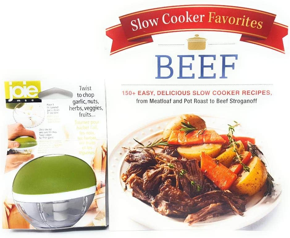 Joie Garlic Twist Bundle with Slow Cooker Favorites Beef: 150+ Easy, Delicious Slow Cooker Recipes, from Meatloaf and Pot Roast to Beef Stroganoff (Paperback)