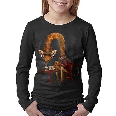 08&FD0 Giraffe children Round Neck T Shirt