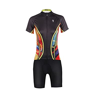7cab516ec Xing Show 2016 New Brown Women s Cycling Bike Bicycle Short Sleeve Jersey  3D Padded Shorts Set