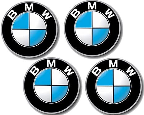 4 pieza BMW placa con Your Design D=64,5 mm 3 5 6
