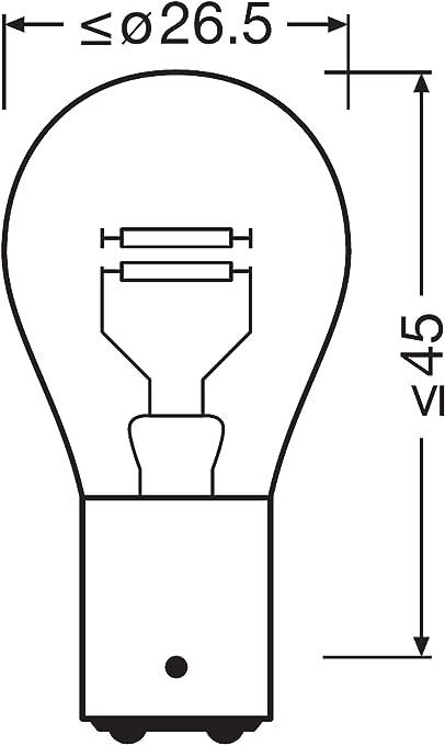 Neolux N380 02b P21 5w Blinklichtlampe 12v Doppelblister Anzahl 2 Auto