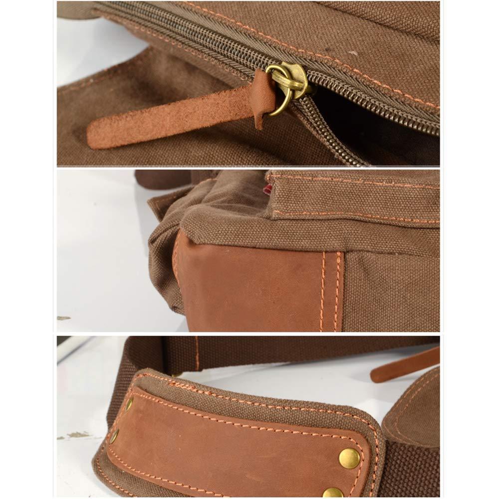 ALTINOVO Men Vintage Messenger Bag Made of Waterproof Canvas Business Shoulder Bag Work Briefcase,Beige
