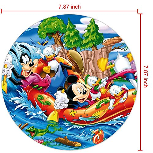 DISNEY COLLECTION Mouse Pad Mickey Mouse Donald Duck and Gofy Sailing On The River Desktop Wallpaper HD Download Free Non-Slip Rubber for Computer PC Gaming Office Travel Laptop Home Black Stylish
