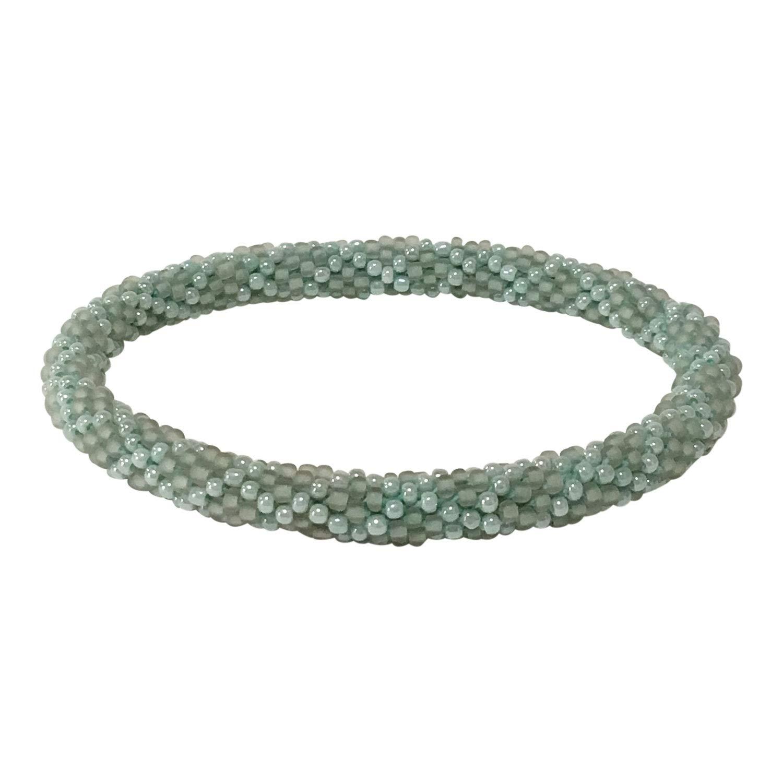 Aid Through Trade Beaded Roll-on Bracelet - Pale Seafoam
