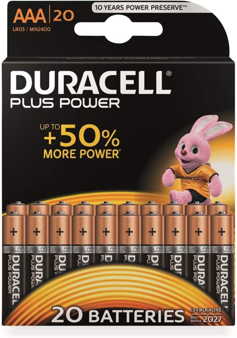 Duracell Plus Power Micro Aaa Batterie Alkali Mangan 1 5 V 20 St Spielzeug