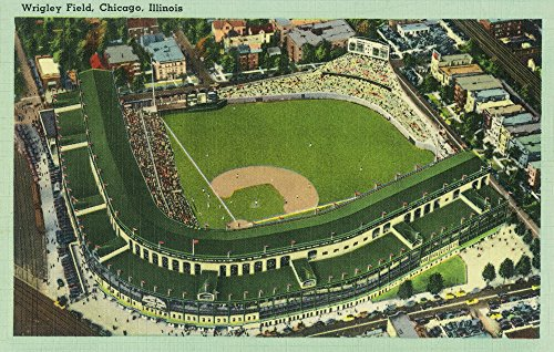 (Chicago, Illinois - Aerial View of Wrigley Field # 2 (16x24 Giclee Gallery Print, Wall Decor Travel Poster))