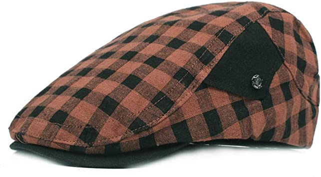 KCJMM-HAT Sombreros Gorras Boinas Simple Flat Cap, Boina de Tela ...