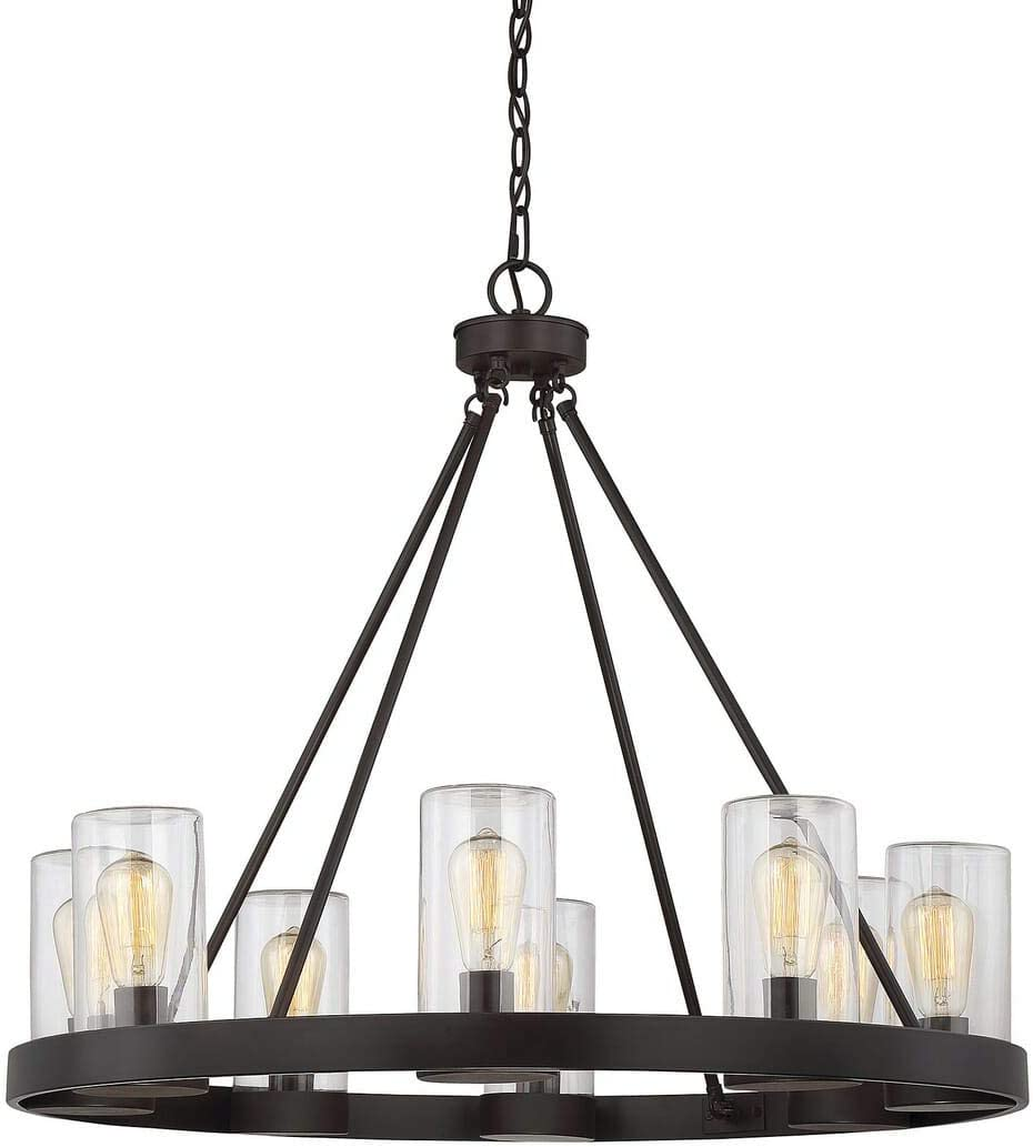 Savoy House 1-1130-8-13 Inman 8-Light Outdoor Chandelier in English Bronze Finish