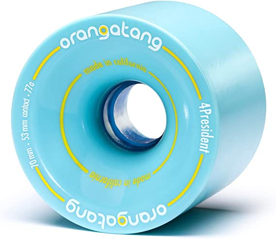 Orangatang 4 President 70 mm Cruising Longboard Skateboard Wheels (Set of 4)