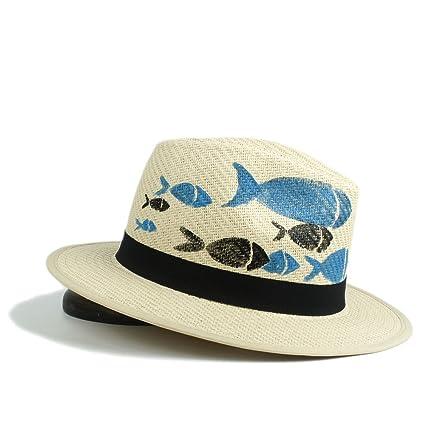9e5e5bcc2d5fb 2018 Sombrero del Sol de Las Mujeres Sombrero Pintado a Mano del Sombrero  de Paja de