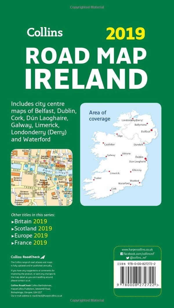 Map Of Ireland Please.2019 Collins Road Map Ireland Collins Maps 9780008272722