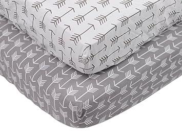 danha premium fitted cotton crib sheet with arrow print u2013 standard crib mattress size u2013 toddler