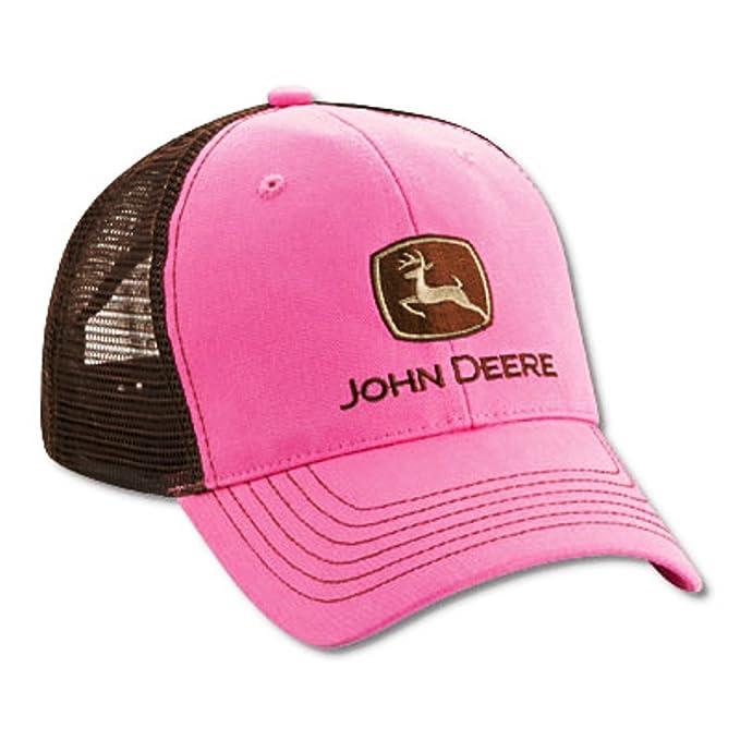 John Deere Rosa/Marrón Respaldo de malla gorro: Amazon.es: Ropa y ...