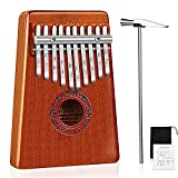 Mugig Kalimba Mbira Thumb Piano Pocket Size for Beginners and Children with Engraved Notation, Cloth Bag, Hammer and Music Book