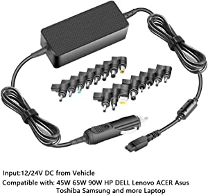 Universal 100W Laptop Car Charger, HKY 19V 19.5V 20V 5A DC Travel Adapter for HP Dell Toshiba Satellite Gateway IBM Lenovo ThinkPad Acer ASUS Compaq Samsung Sony Fujitsu Notebooks Computers & Tablet