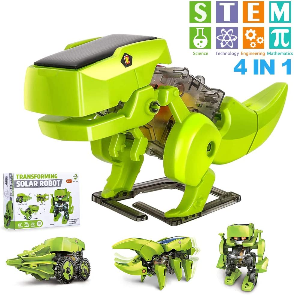 OFUN STEM Projects for Kids Ages 8-12 Coding Robots 4 in 1 Learning Science Kits DIY Building Dinosaurs Toy Age 8 and up Gift for Boys Girls