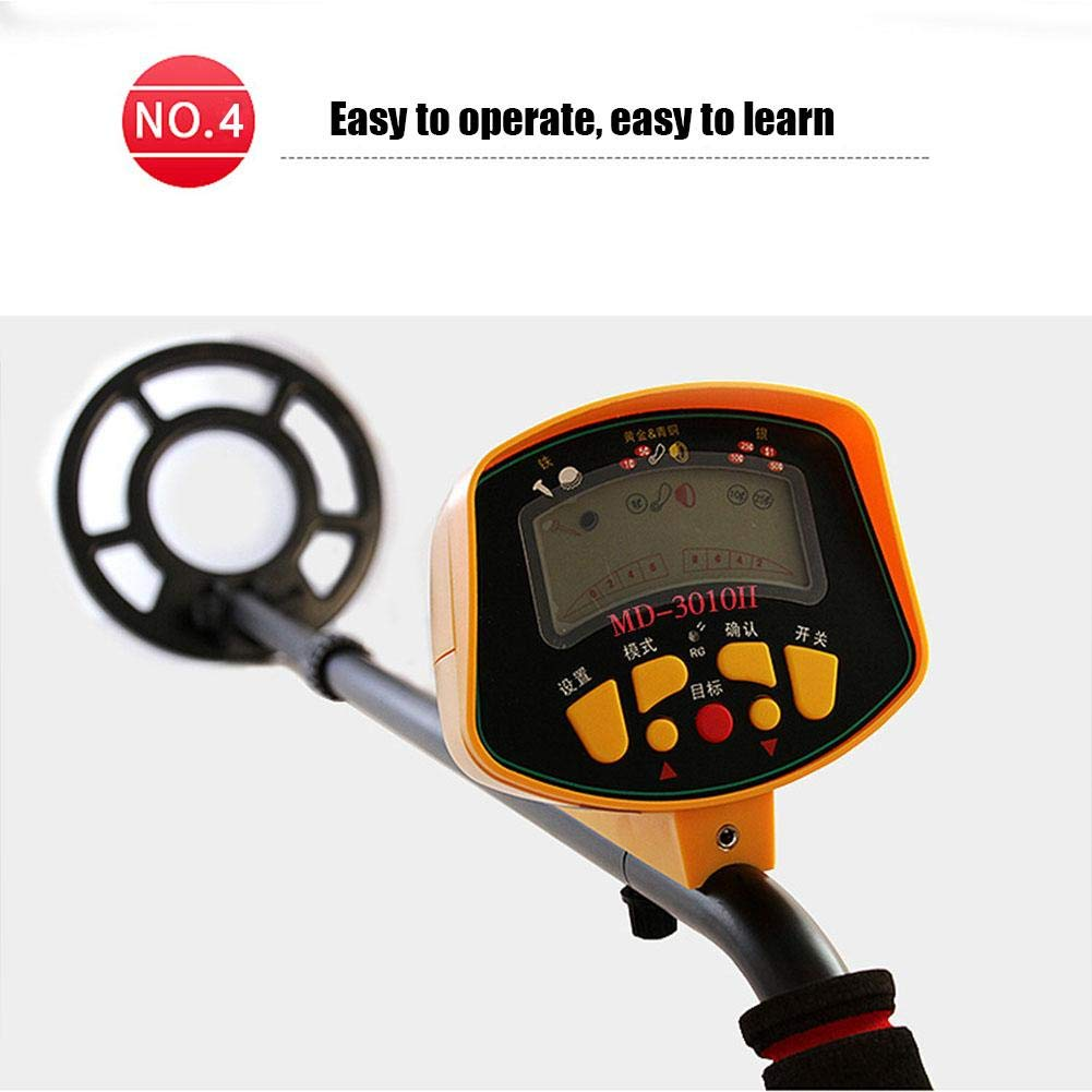 Amazon.com : Moving Ship Metal Detector Underground Search Treasure Waterproof Metal Gold Archaeological Detector MD3010 Labor-Saving Suitable for Explorers ...