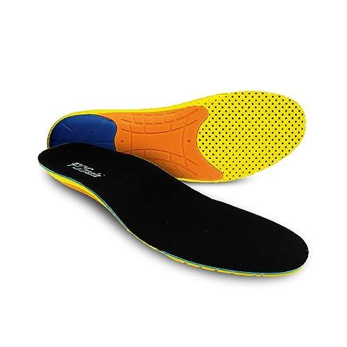 sale retailer 339cf f434f PCSsole Sport Orthopädische Einlegesohlen mit Fersenkissen, Fuß  Unterstützung Stoßdämpfung Einlagen für Laufschuhe, Arbeitsschuhe(