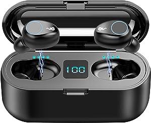 Bluetooth Earbuds,SUNhai F9 TWS Wireless Bluetooth 5.0 Headphones, IPX7 Waterproof Touch Headphones in-Ear Sports Earphone, Build in 2000mAh Power Bank Headset & Microphone and so on