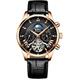 Fashion Automatic Men's Watches Tourbillon Mechanical Wristwatch, Luxury Luminous Skeleton Waterproof, Relojes Hombre