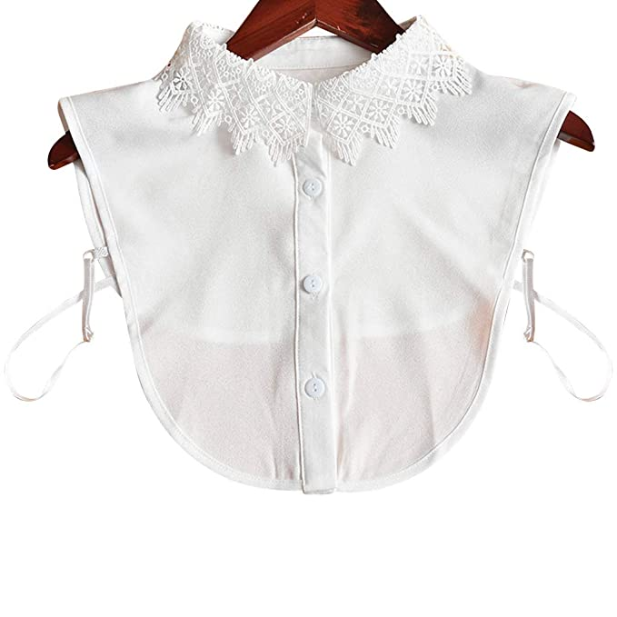 Tandou Krageneinsatz Damen Abnehmbare Blusenkragen Einsatz