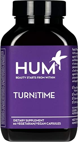 HUM Turn Back Time – Youthful Skin Supplement – Help Minimize Visible Signs of Aging Promote Even Skin Tone with Green Tea Polyphenols, Turmeric Lutein 60 Vegan Capsules