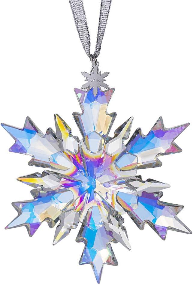 Item 1076 Christmas In July Snowflake Obsidian Earrings