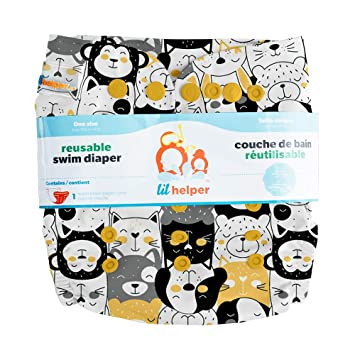 Adjustable No Stains Easy One Size Fits All Lil Helper Reusable Swim Diapers Overload Patterns//Prints Baby Boys /& Girls