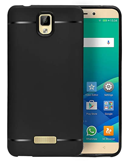 size 40 d9e79 dd345 ECellStreet Back Case Cover | Flexible Shockproof TPU | Candy Case for  Gionee P7 Max - Black