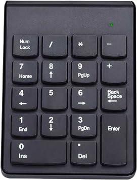 alxcio 2,4 G 18 teclas teclado numérico inalámbrico portátil ...
