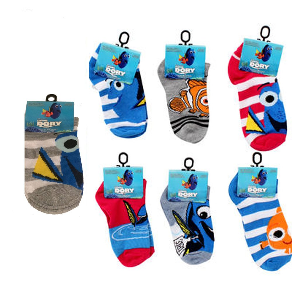 Amazon.com: Disney Pixar Finding Dory Nemo Childrens Socks Multi-Pack (6-8.5): Clothing