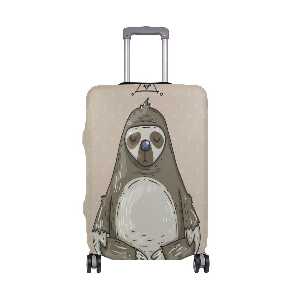 旅行荷物カバーFits 18 – 20インチスーツケースwith Meditatesナマケモノプリントスーツケースカバー S 18-20 in  B07FVS9L19