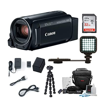 f10ee2d0a18 Canon VIXIA HF R800: 1080p HD Video 57x Zoom Camcorder Bundle with 32GB SD  Card