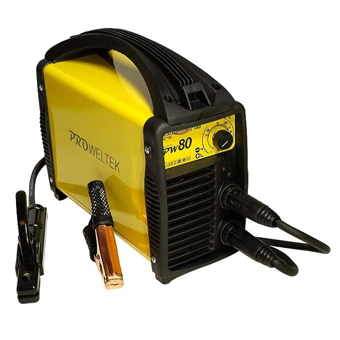 proweltek estación de soldadura inverter 80 A incluye: maletín, cortador de masa, puerta electrodos: Amazon.es: Bricolaje y herramientas