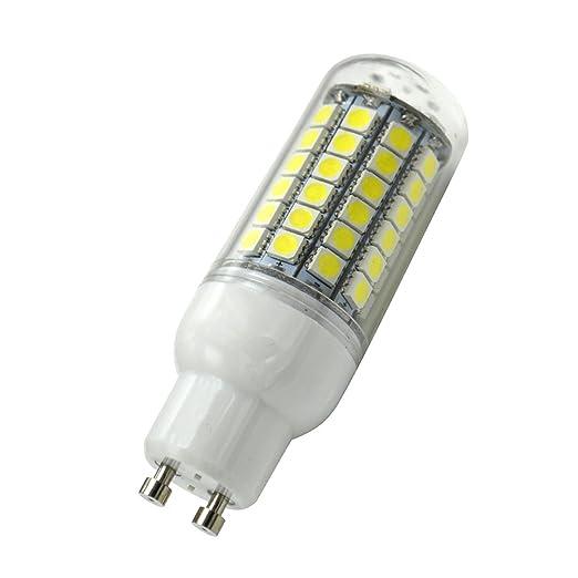Aoxdi 1X GU10 8W Bombilla LED Lámpara de Maíz, Blanco Frío, Dimensiones (OXL