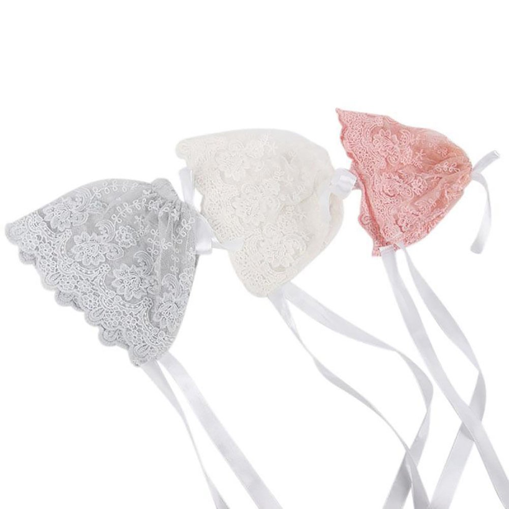Cute White Lace Comfortable Soft Photography Prop dzsntsmgs Baby Infant Newborn Girls Kids Lace Floral Hat Cap Beanie Bonnet Cotton Hat Warm Keeper Hat