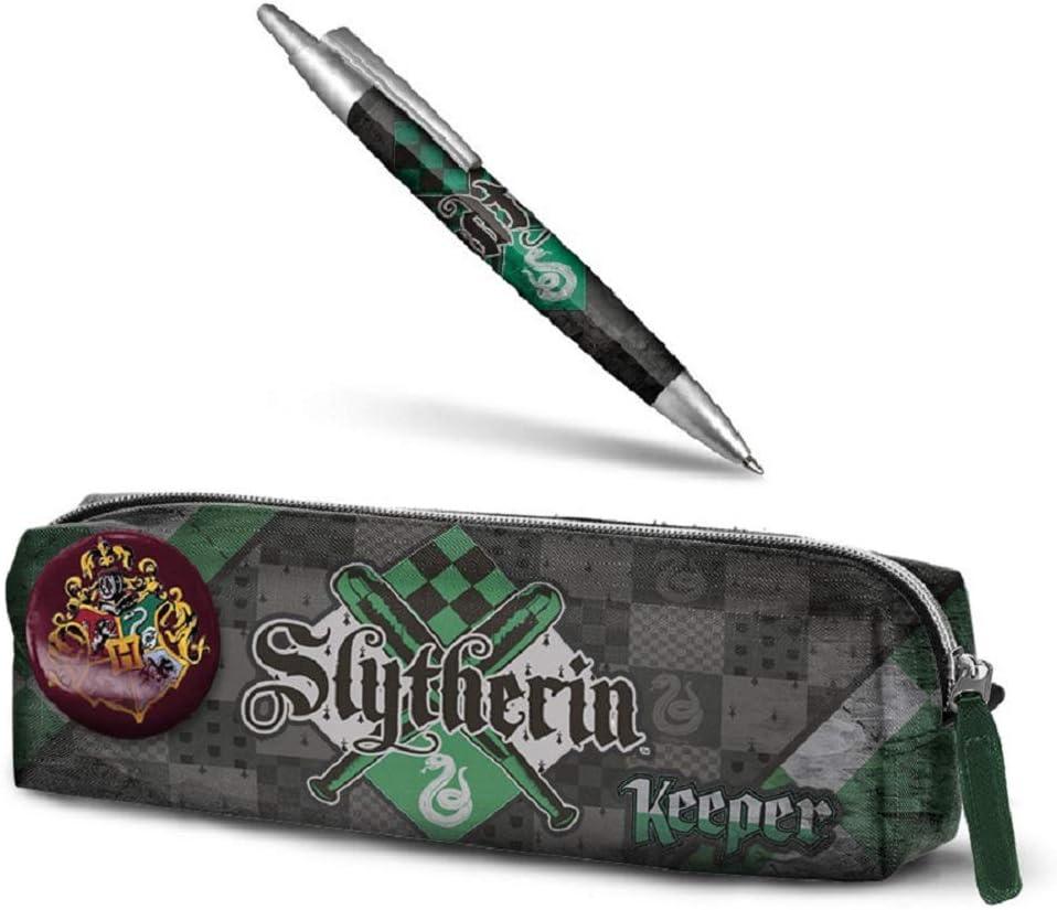 Estuche para lápices de Harry Potter - Slytherin + Pluma de Harry Potter: Amazon.es: Oficina y papelería