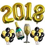 2018 BALLOONS GOLD,Graduation Party Decorations 2018 High School Graduation, College Grad Banner