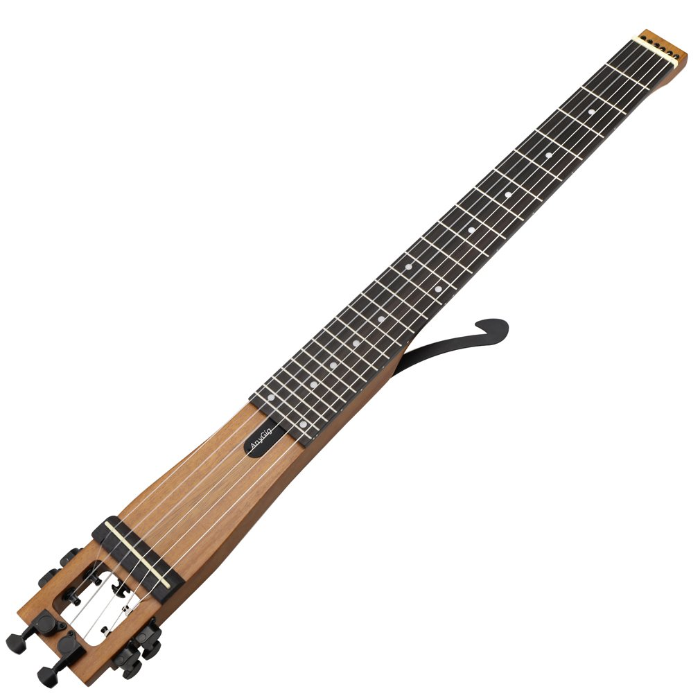 Anygig Travel Guitar, Left Hand Portable Electric Guitar For Travelers, Beginners And Music Lovers