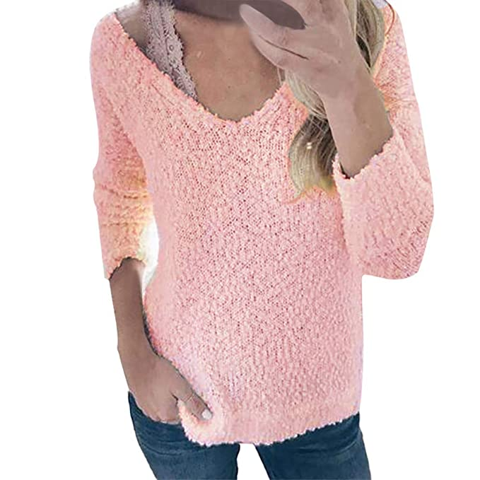 Sweaters For Women 2019 Auwer Womens Deep V Neck Long