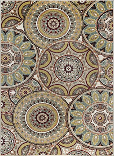 Tayse Ashton Transitional Geometric Multi-Color Rectangle Area Rug, 5