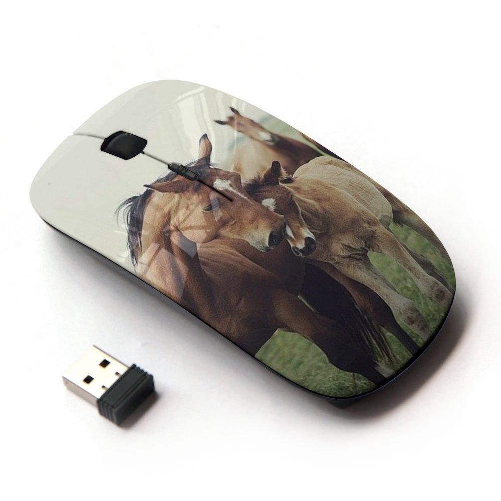 KawaiiMouse [ Optical 2.4G Wireless Mouse ] Horse Cub Nature Foal Animal Summer