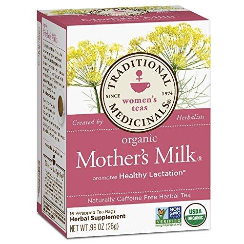 Traditional Medicinals, Organic Mother's Milk, Caffeine Free, Breastfeeding breast feeding increase milk supply tea 16 Tea Bags (28 g) by Traditional Medicinals